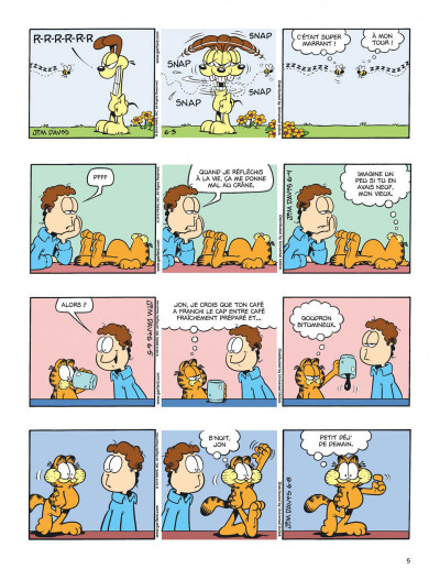 Page 5 Garfield tome 59 - chat geek