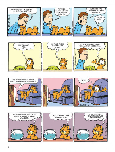 Page 6 Garfield tome 59 - chat geek