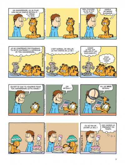 Page 7 Garfield tome 59 - chat geek