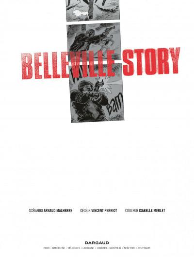 Page 1 Belleville story - intégrale