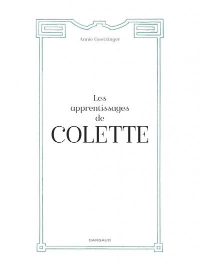 Page 3 Les apprentissages de Colette + ex-libris offert