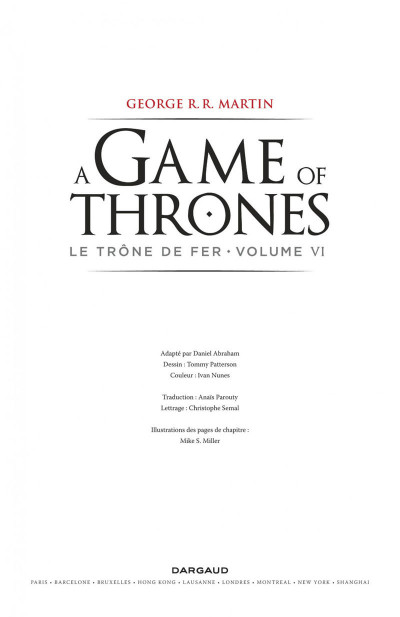 Page 3 A game of thrones - le trône de fer tome 6