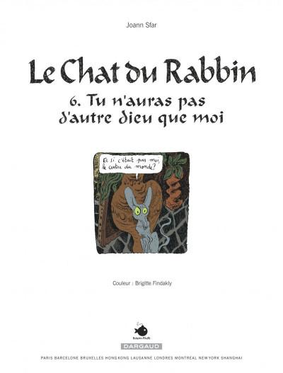 Page 1 Le chat du rabbin tome 6