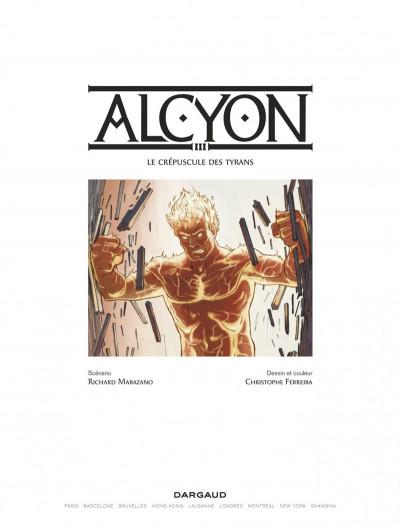 Page 1 Alcyon tome 3 - Le crépuscule des Dieux