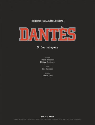 Page 1 Dantès tome 9