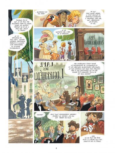 Page 8 Violette autour du monde tome 1 - Ma tête dans les nuages