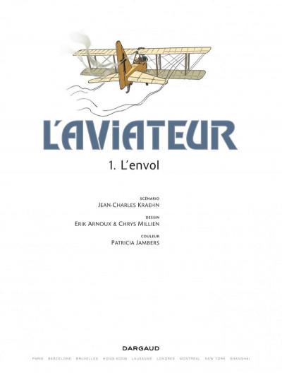 Page 1 L'aviateur tome 1