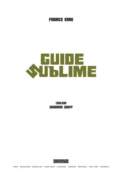 Page 1 Guide sublime