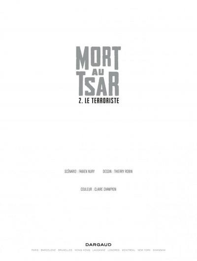 Page 1 Mort au tsar tome 2