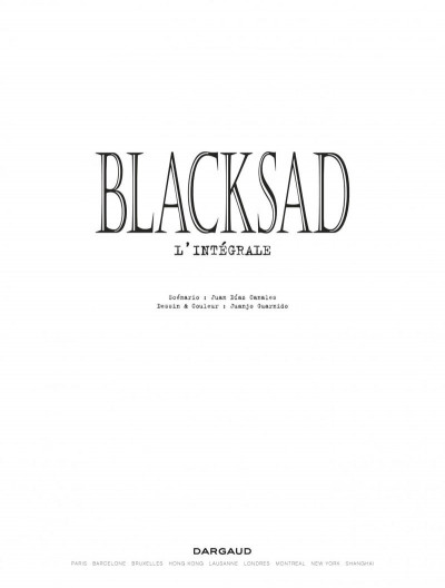 Page 1 Blacksad l'intégrale