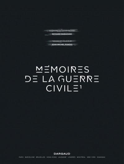 Page 1 Mémoires de la guerre civile tome 1