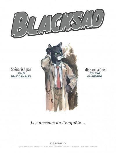 Page 1 Blacksad - Les dessous de l'enquête...