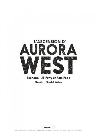 Page 3 Aurora West tome 1