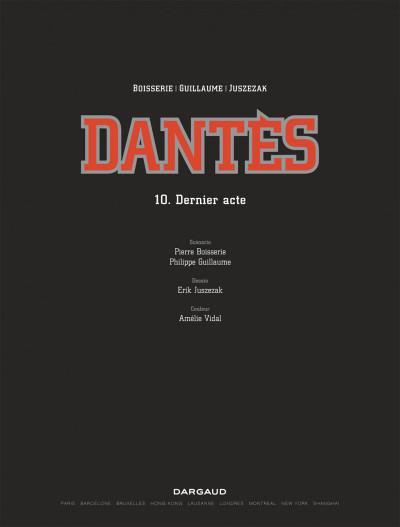 Page 1 Dantès tome 10