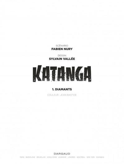 Page 1 Katanga tome 1