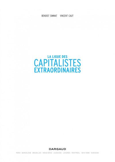 Page 1 La ligue des capitalistes extraordinaires