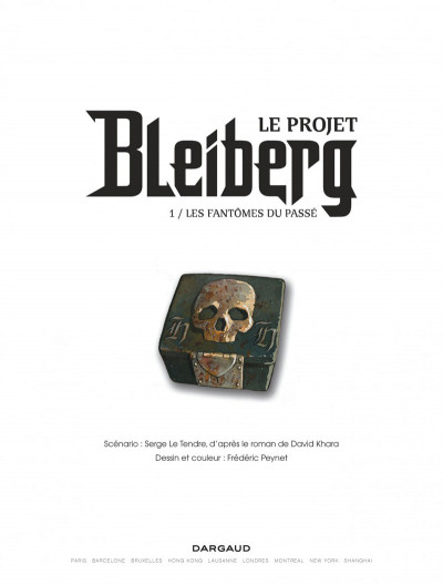 Page 1 Le projet Bleiberg tome 1