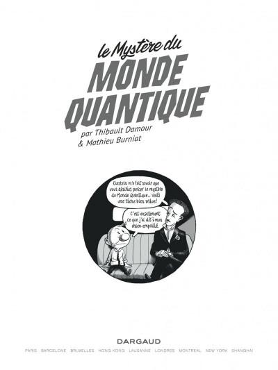 Page 1 Le mystère du monde quantique