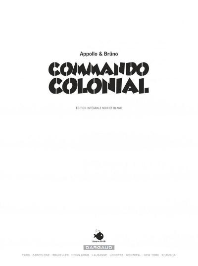 Page 1 Commando Colonial intégrale