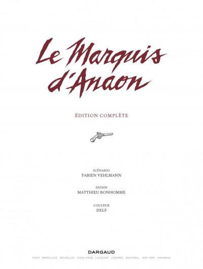 Page 1 Le marquis d'Anaon - intégrale
