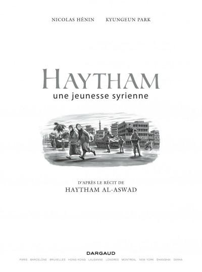 Page 1 Haytham - une jeunesse syrienne