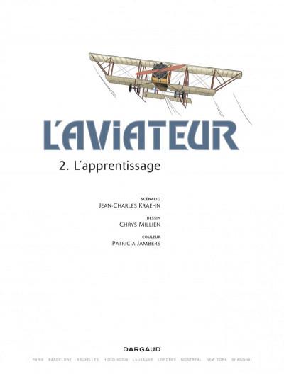Page 1 L'Aviateur tome 2