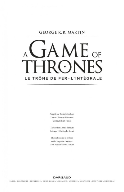 Page 1 Game of thrones - intégrale