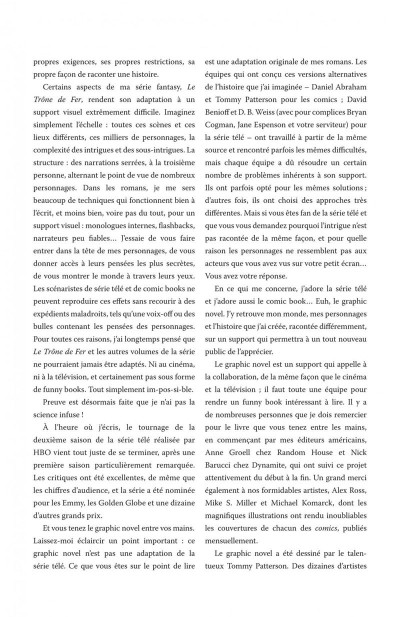 Page 5 Game of thrones - intégrale