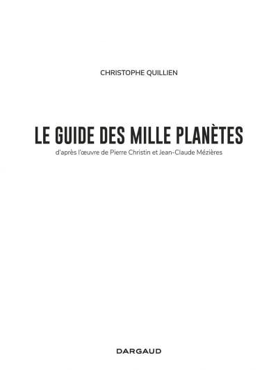 Page 3 Valérian - Le guide des 1000 planètes