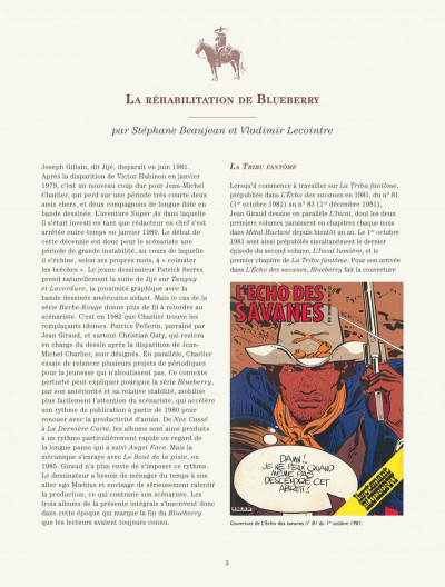 Page 3 Blueberry - intégrale tome 7