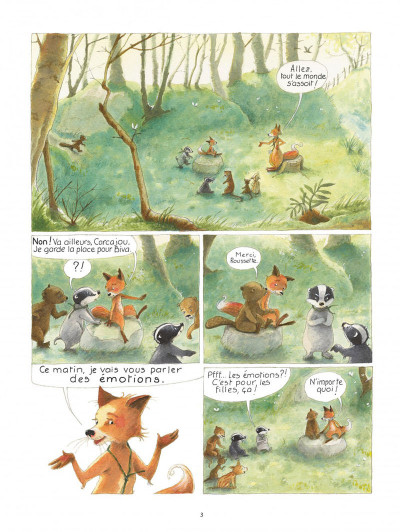 Page 3 La famille blaireau-renarde tome 1