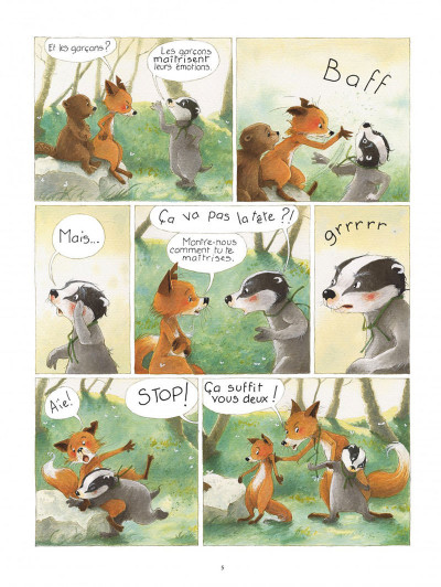 Page 5 La famille blaireau-renarde tome 1