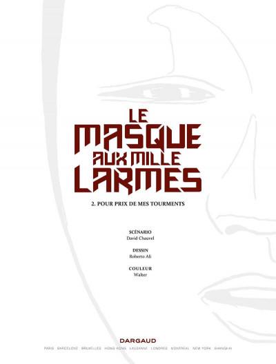 Page 1 Le masque aux mille larmes tome 2