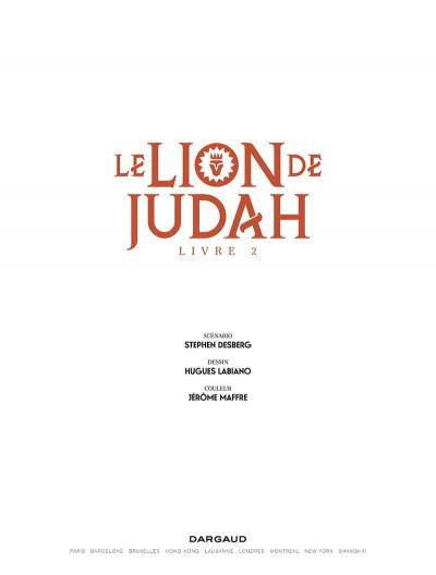 Page 1 Le lion de Judah tome 2