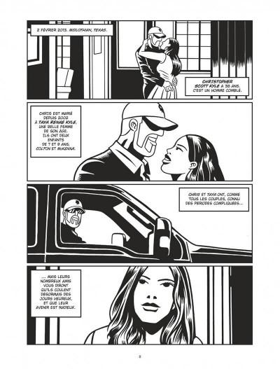 Page 8 L'homme qui tua Chris Kyle - éd. noir et blanc