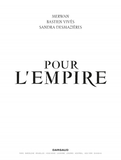Page 1 Pour l'empire - intégrale