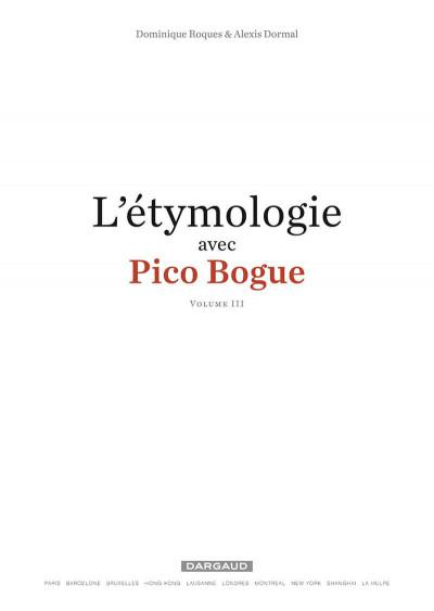 Page 2 L'étymologie avec Pico Bogue tome 3