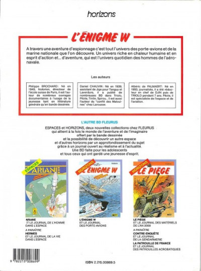 Dos Énigme W (L') - L'énigme W (éd. 1986)