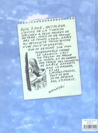 Dos carnets de voyages de wolinski