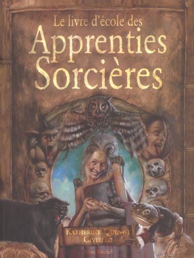 Couverture le livre d'école des apprenties sorcières