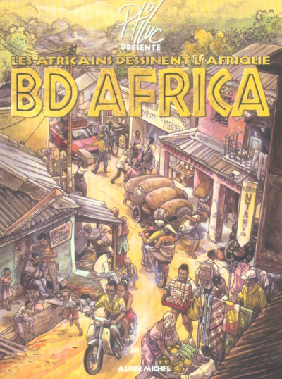 Couverture bd africa ; les africains dessinent l'afrique
