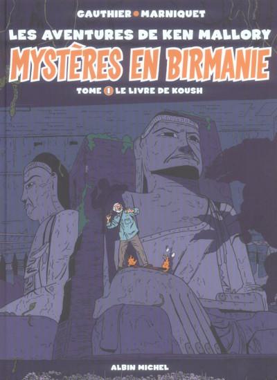 Couverture mystères en birmanie tome 1 - le livre de koush