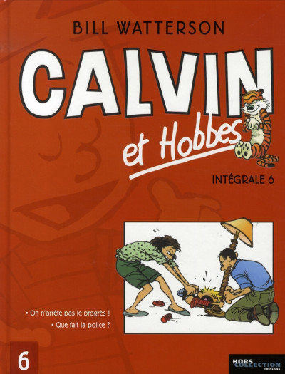 Couverture calvin et hobbes - intégrale tome 6