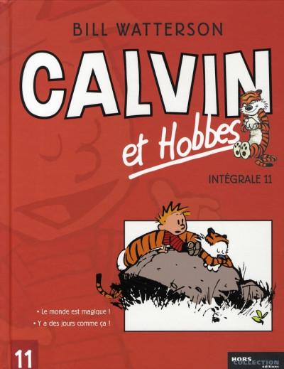 Couverture calvin et hobbes - intégrale tome 11