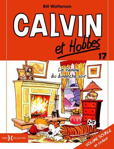 Couverture Calvin et Hobbes tome 17 - la flemme du dimanche soir