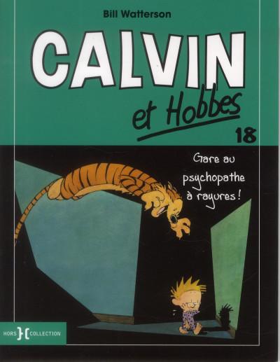Couverture Calvin et Hobbes T.18 - gare au psychopathe à rayures !
