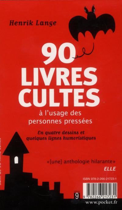 Dos 90 livres cultes ; 90 films cultes à l'usage des personnes pressées
