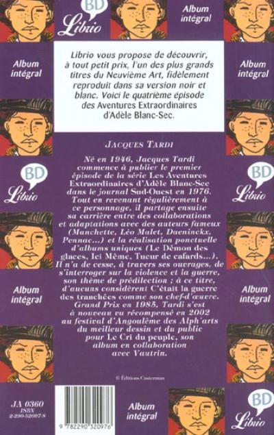 Dos Adèle Blanc-Sec - poche tome 4 - momies en folie