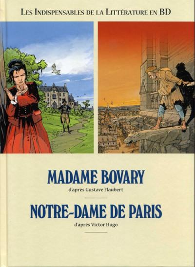 Couverture Les indispensables de la Littérature en BD - Madame Bovary / Notre-Dame de Paris