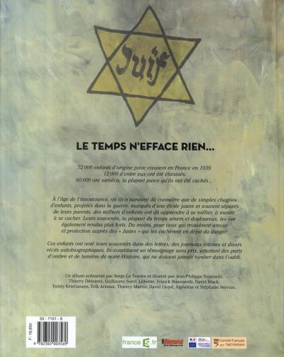Dos paroles d'étoiles ; mémoires d'enfants cachés, 1939-1945
